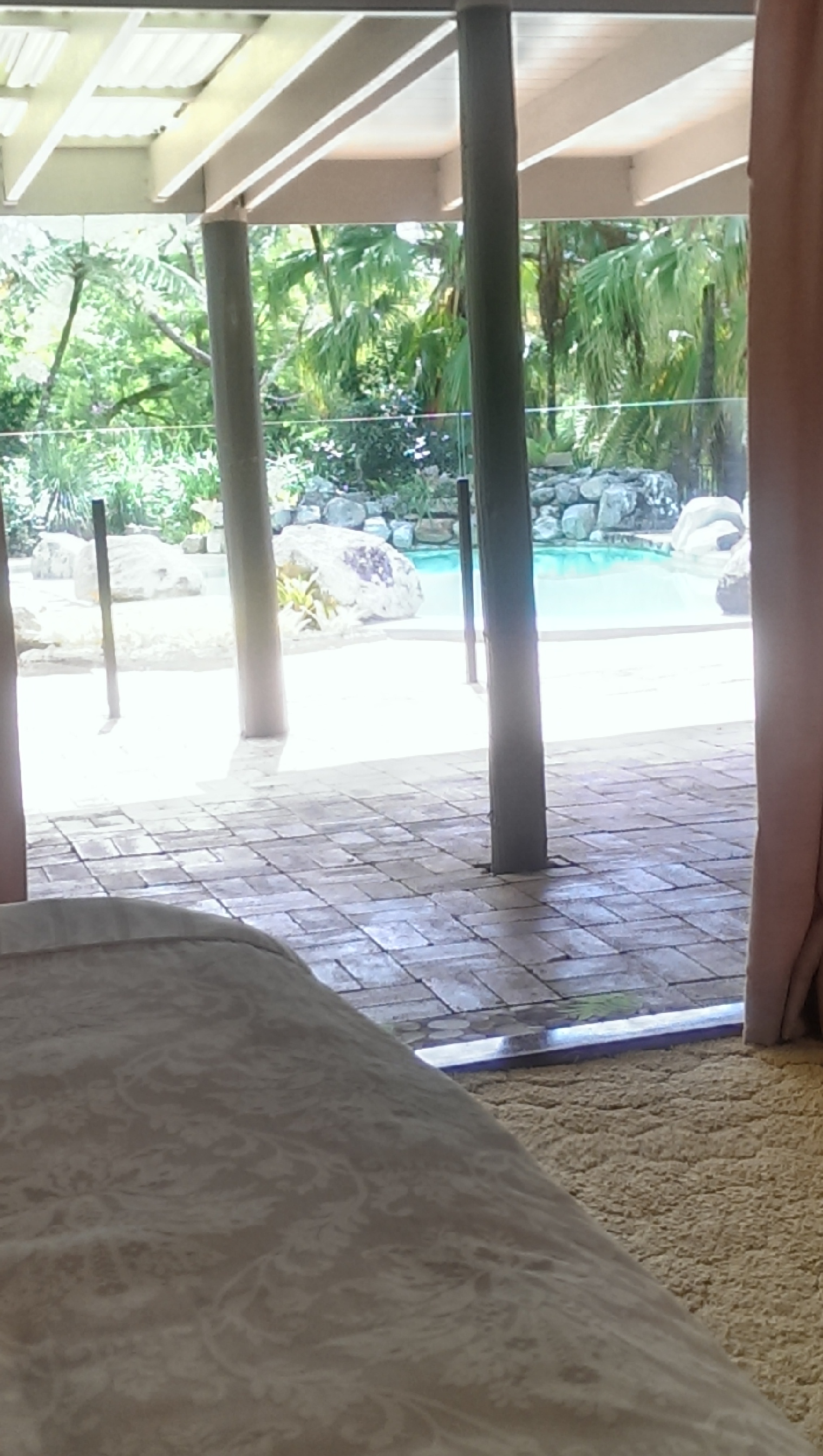queen bed side view. Pool Side Queen Bed With Ensuite View Of From Bedroom Maleny Accommodation 4 T