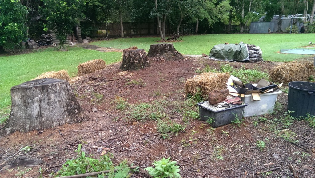No Dig Garden- Before :Maleny Accommodation